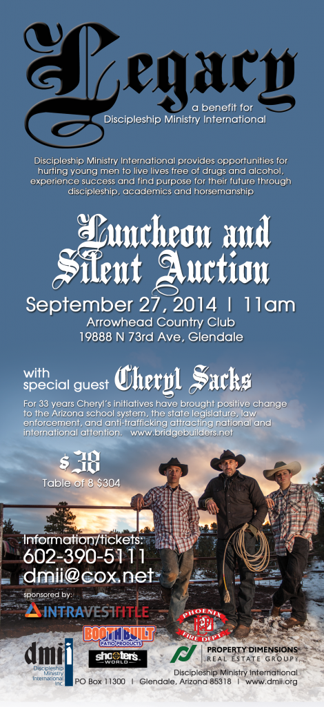 Legacy: Luncheon and Silent Auction with special guest Cheryl Sacks @ Arrowhead Country Club | Glendale | Arizona | United States